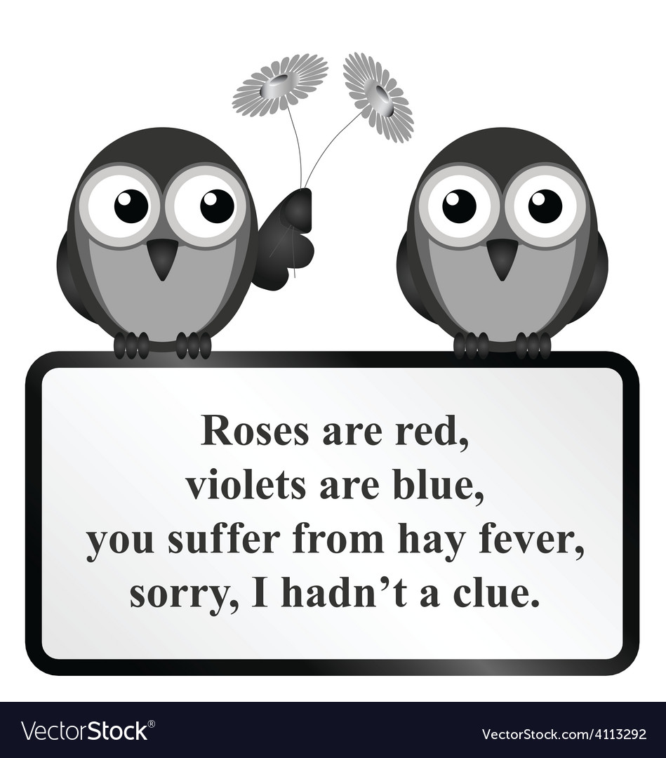 Hay fever poem vector | Price: 1 Credit (USD $1)