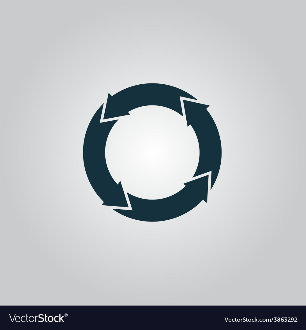 Icon of recycle vector | Price: 1 Credit (USD $1)