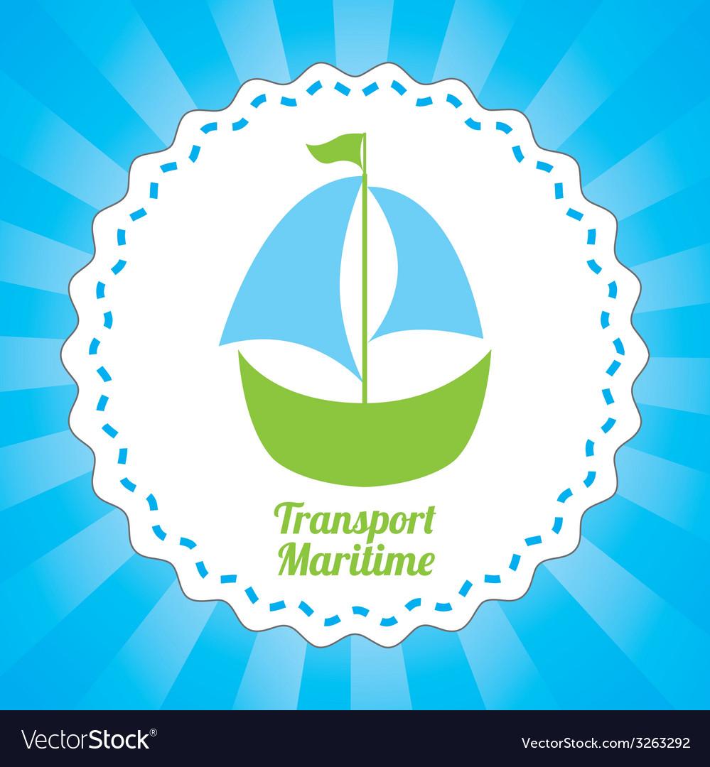 Maritime transport design vector   Price: 1 Credit (USD $1)