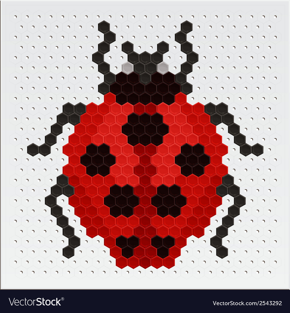 Mosaic ladybird vector | Price: 1 Credit (USD $1)