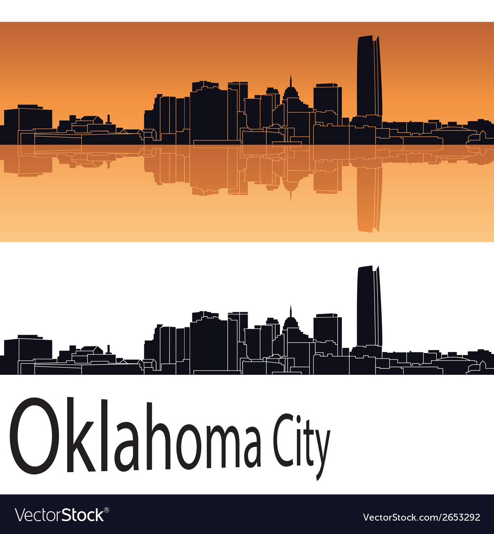 Oklahoma city skyline vector | Price: 1 Credit (USD $1)