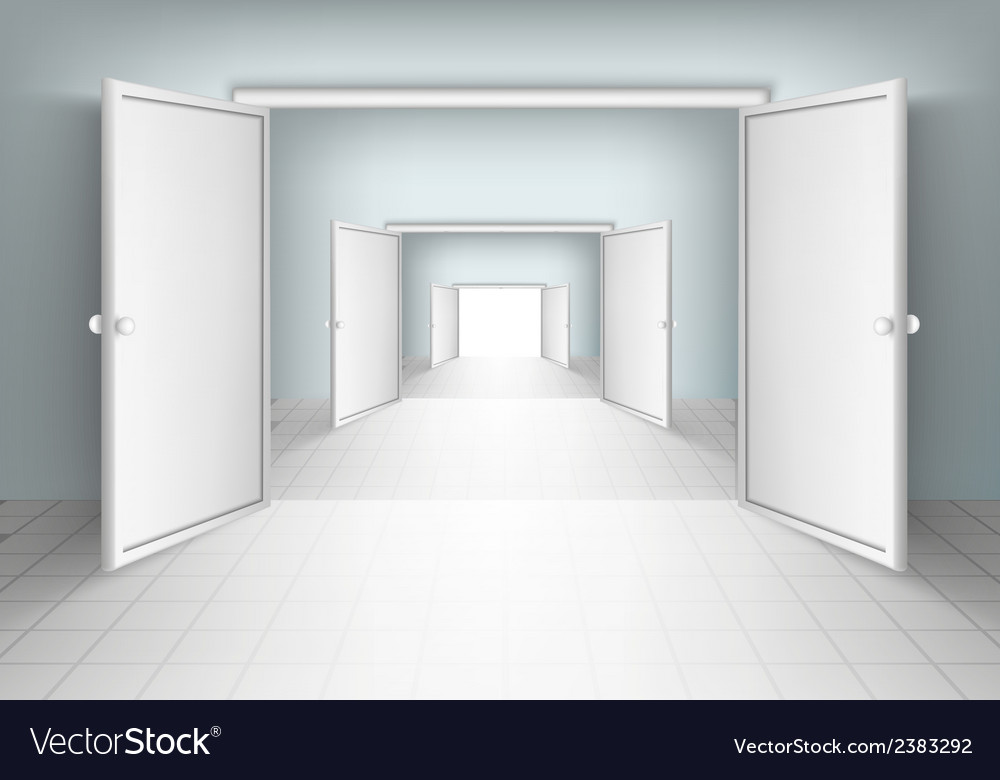 Open doors isolated vector | Price: 1 Credit (USD $1)