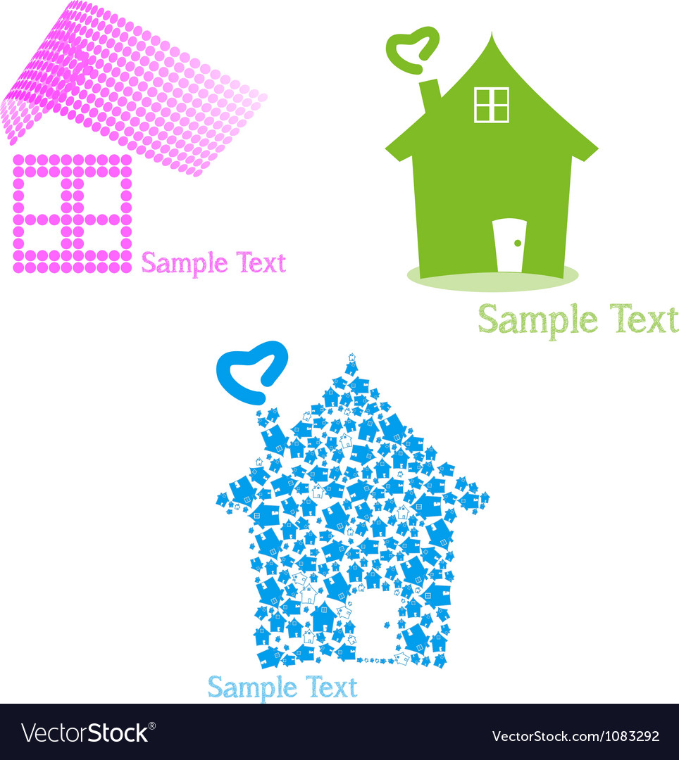 Real estate set of symbols for logo designing vector | Price: 1 Credit (USD $1)