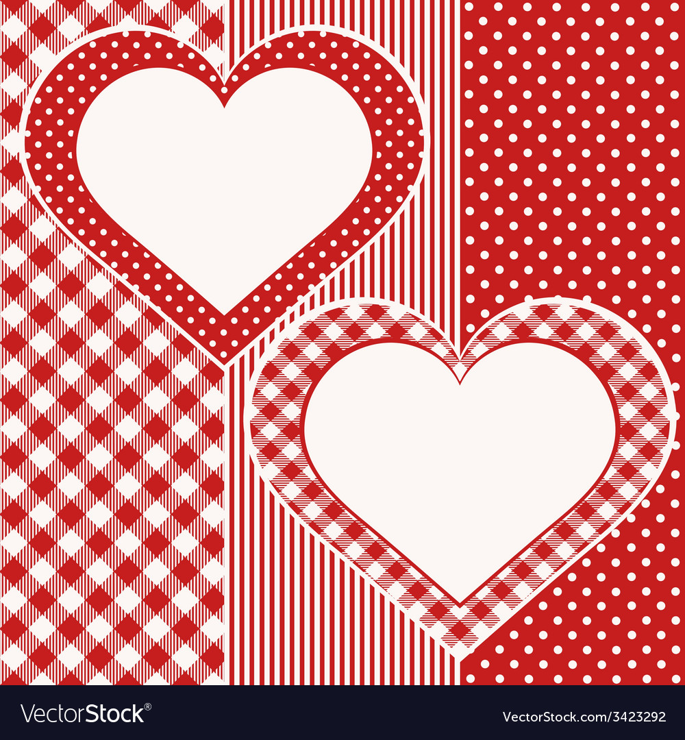 Valentine card with two hearts vector | Price: 1 Credit (USD $1)
