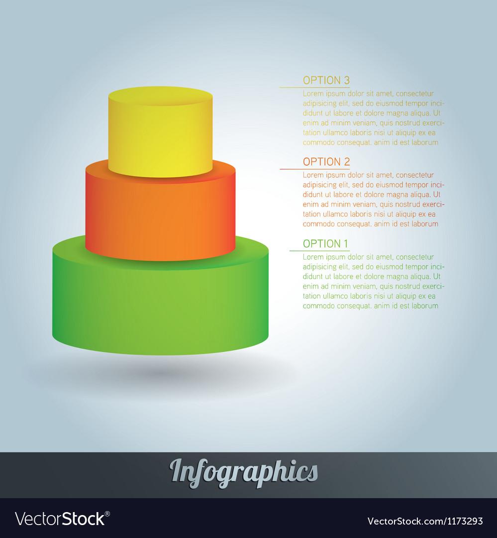 3d progress template vector | Price: 1 Credit (USD $1)