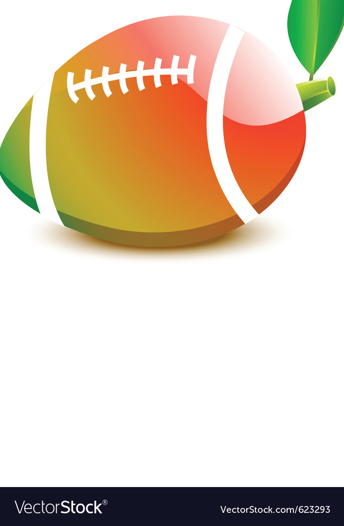 Ball for rugby football - a papaya vector | Price: 1 Credit (USD $1)