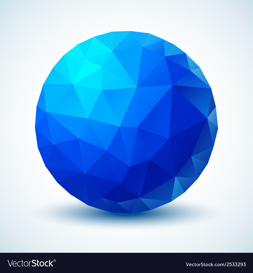 Blue geometric ball for your design vector | Price: 1 Credit (USD $1)