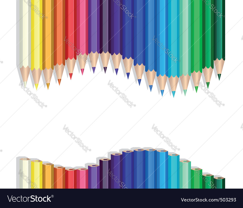 Color pencils wave vector | Price: 1 Credit (USD $1)
