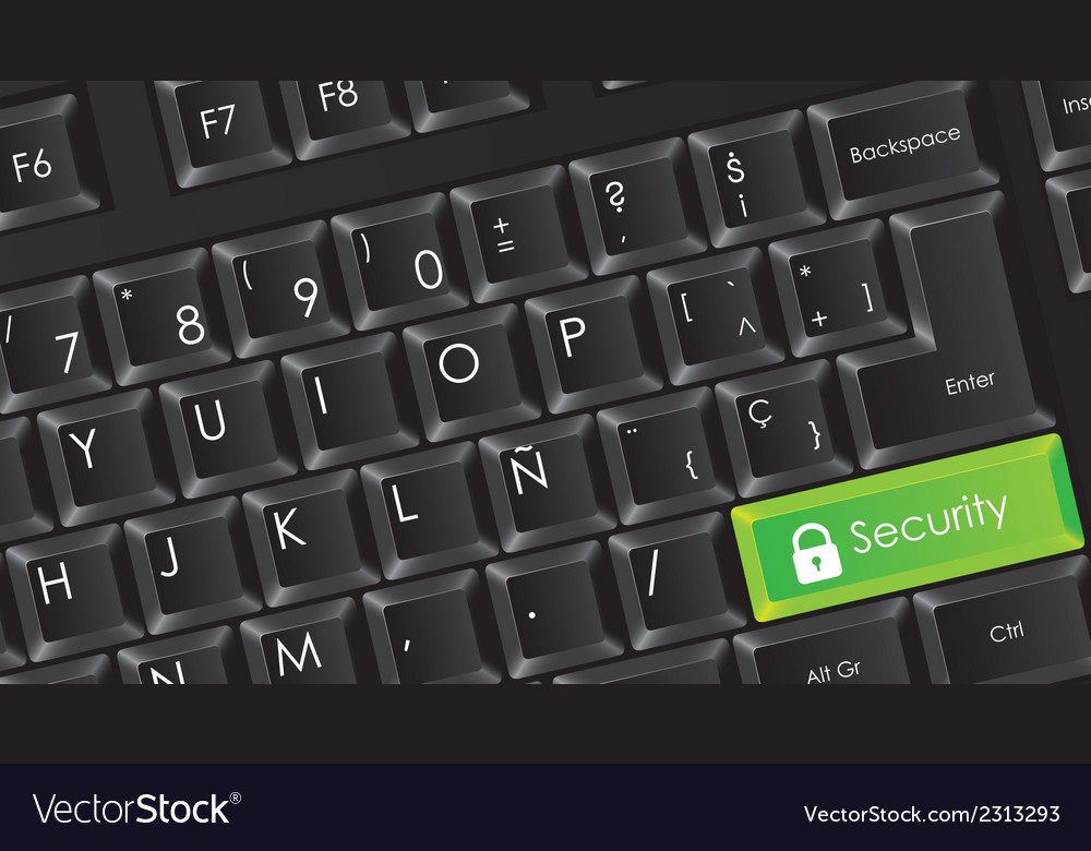Conceptual black keyboard with letters in white wi vector | Price: 1 Credit (USD $1)