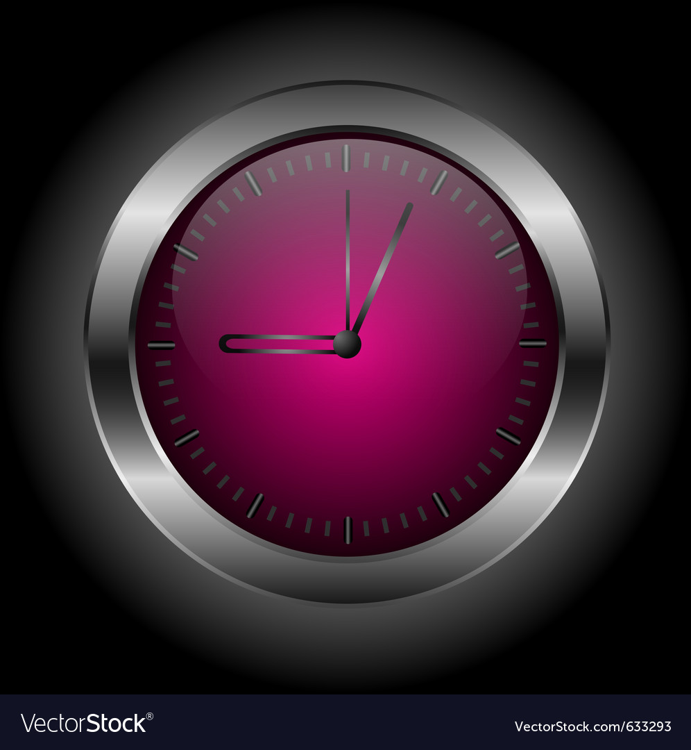Dark red stylish clock vector | Price: 1 Credit (USD $1)