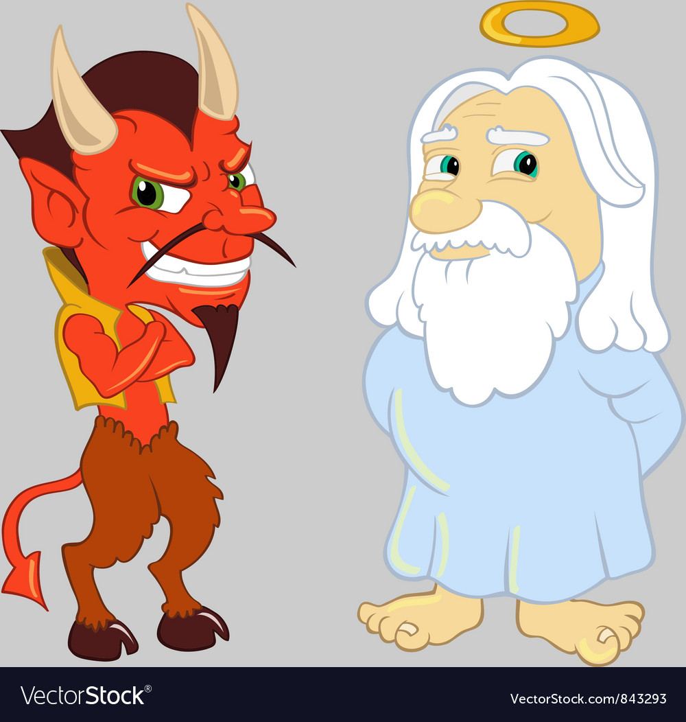 God and the devil vector | Price: 3 Credit (USD $3)