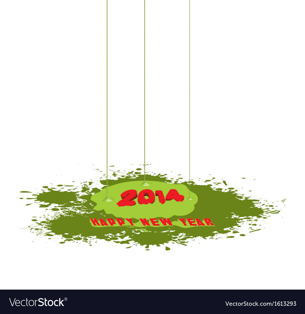 Happy new year paint drip vector | Price: 1 Credit (USD $1)