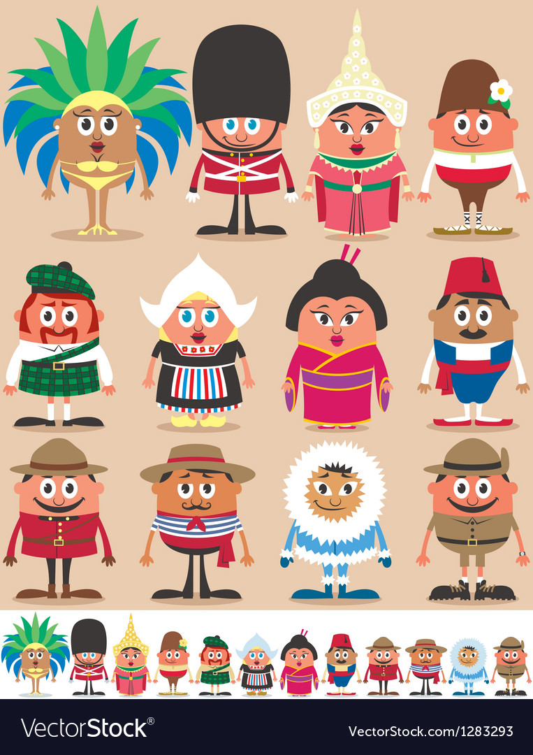 Nationalities part 2 vector | Price: 3 Credit (USD $3)