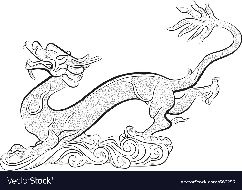 Old chinese traditional dragon vector | Price: 1 Credit (USD $1)