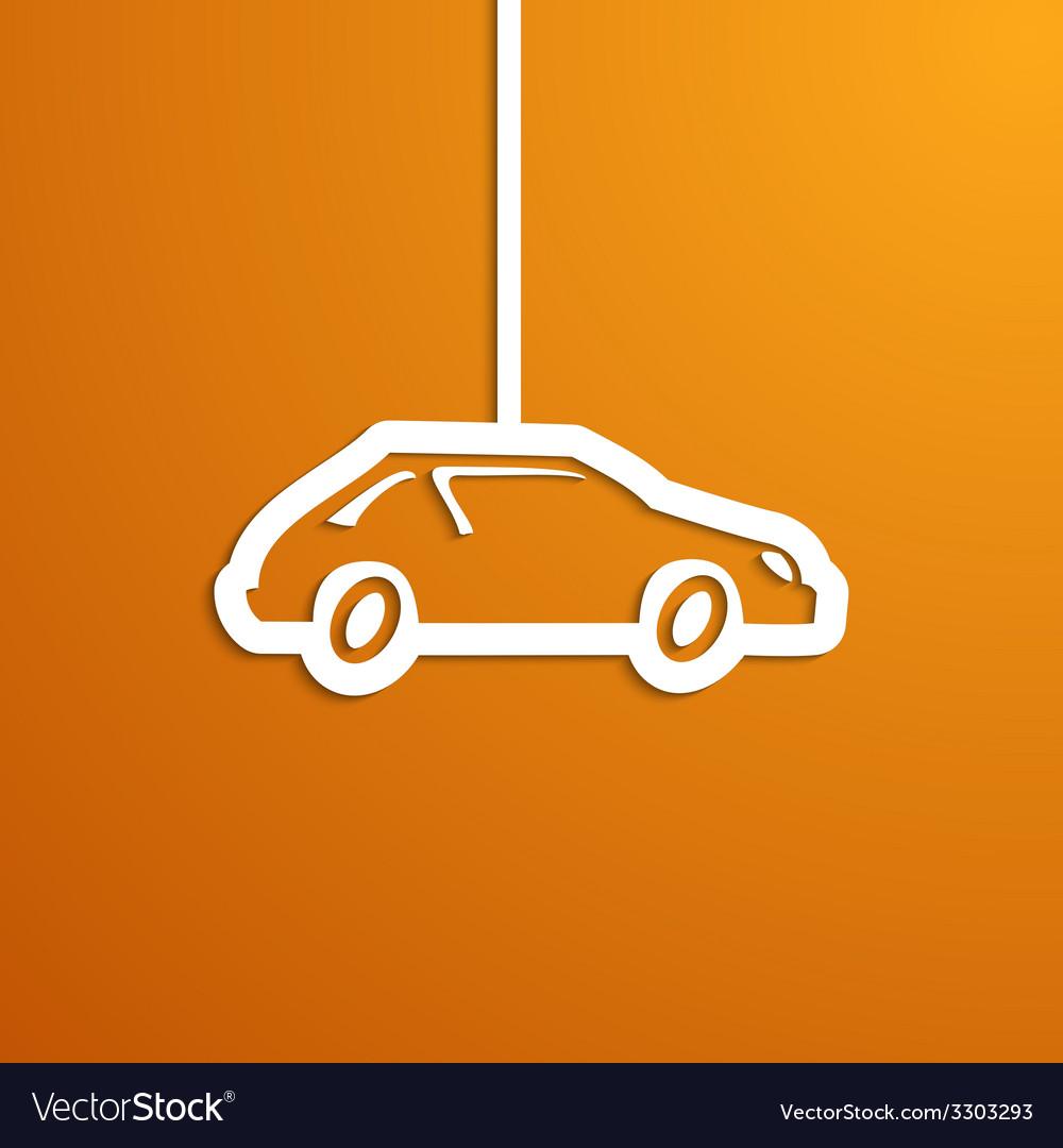 Paper car vector | Price: 1 Credit (USD $1)