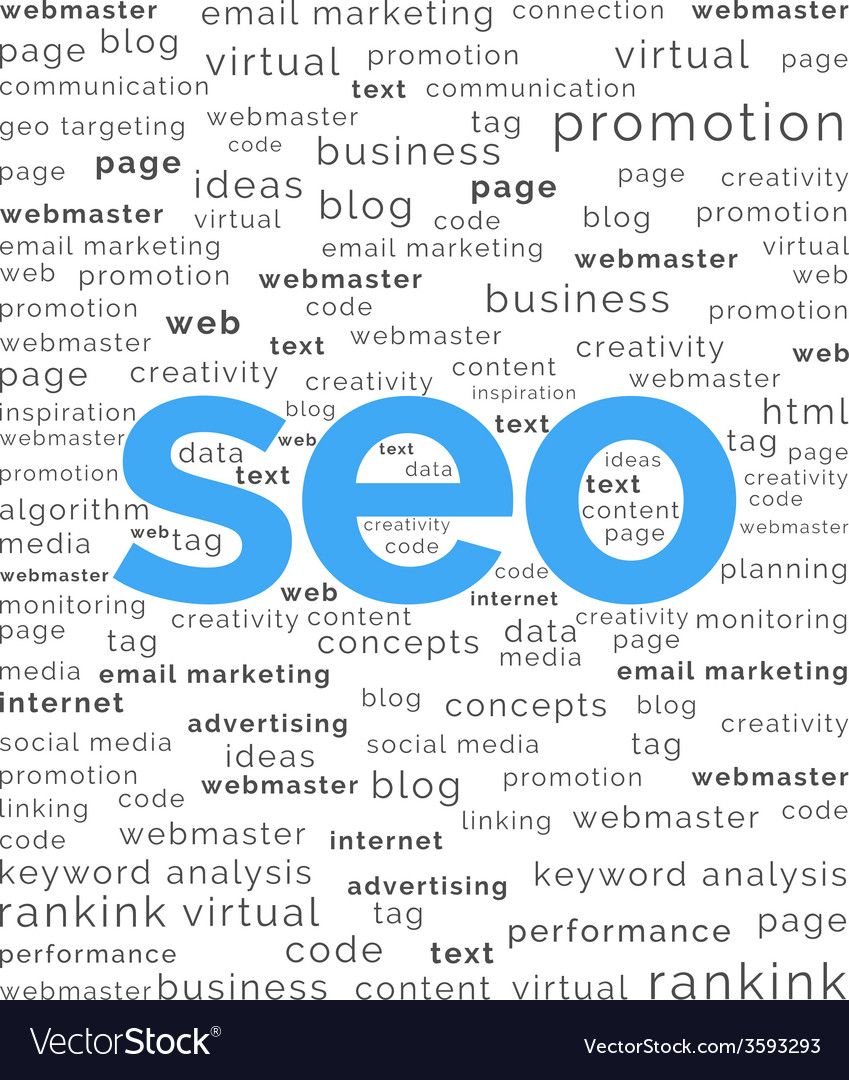 Seo word with keywords background vector | Price: 1 Credit (USD $1)