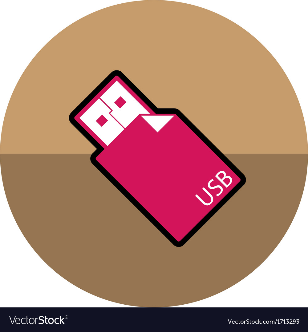 Usb stick icon vector | Price: 1 Credit (USD $1)