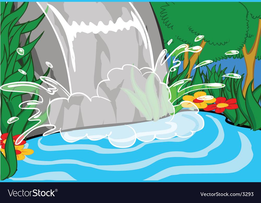 Waterfall illustration vector   Price: 1 Credit (USD $1)