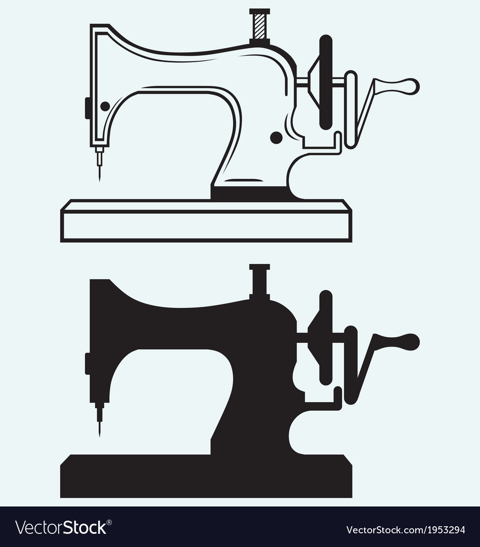 Antique sewing machine vector | Price: 1 Credit (USD $1)