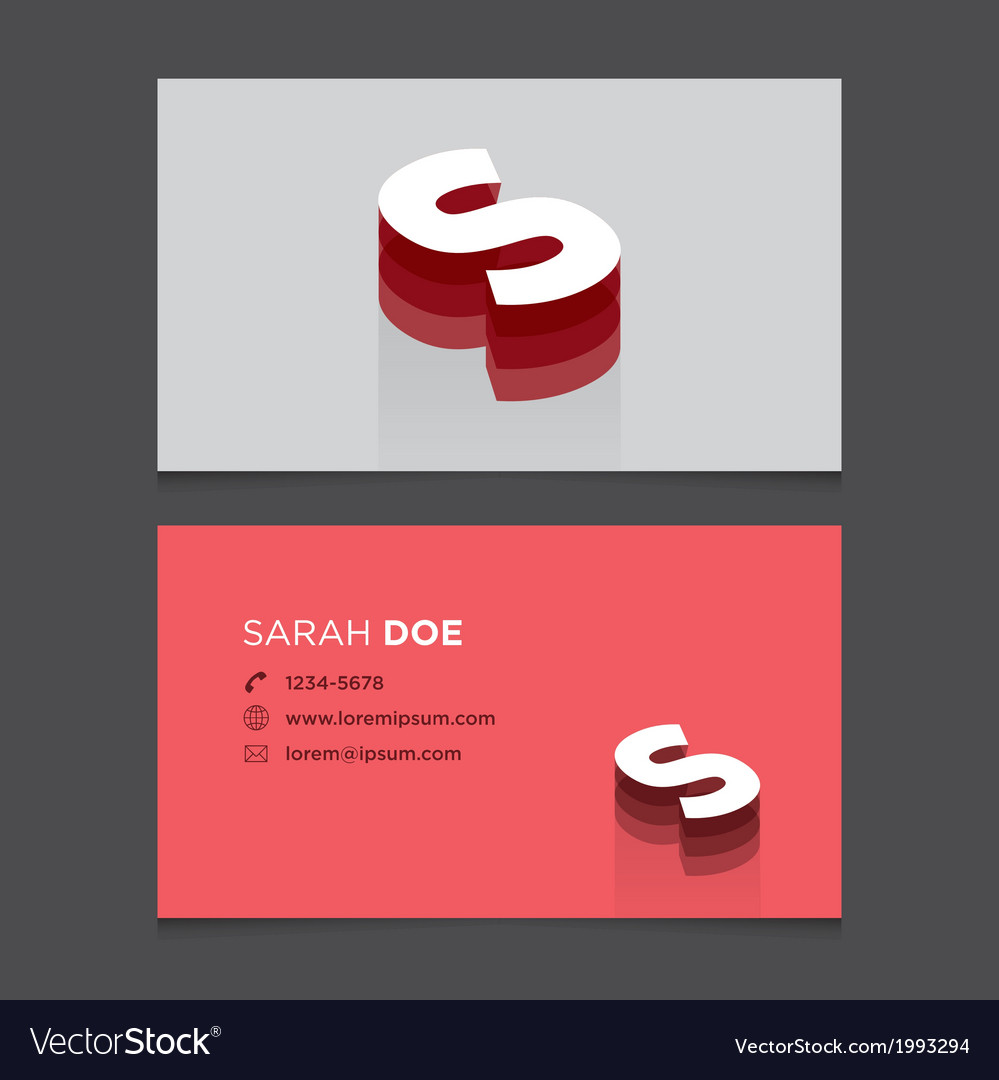 Business card letter s vector | Price: 1 Credit (USD $1)