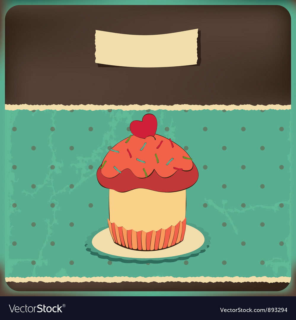 Cake vintage vector | Price: 1 Credit (USD $1)