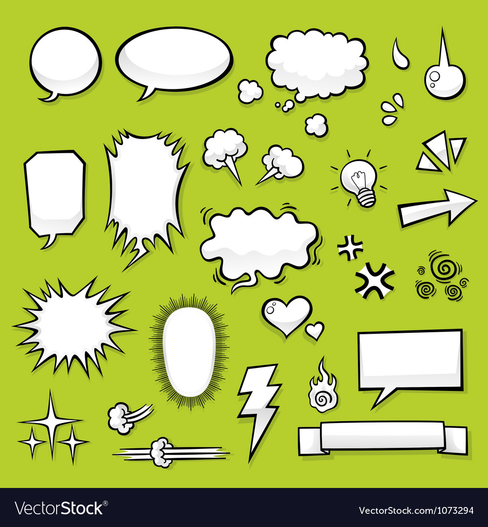 Comic elements vector | Price: 1 Credit (USD $1)