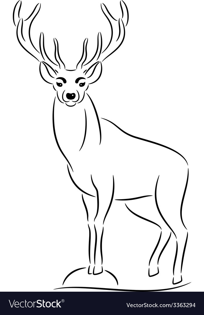 Deer silhouette vector | Price: 1 Credit (USD $1)