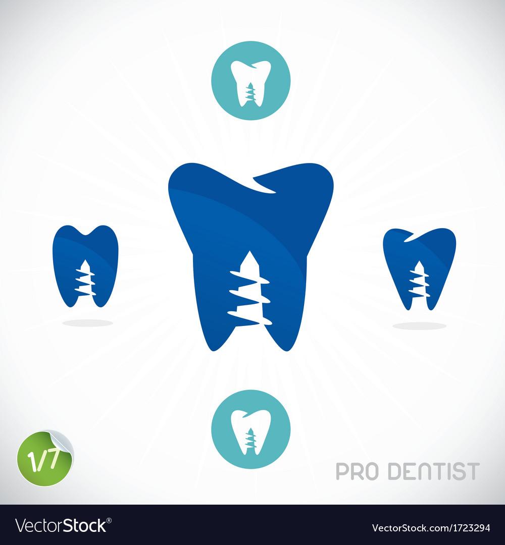Dentist symbols vector   Price: 1 Credit (USD $1)