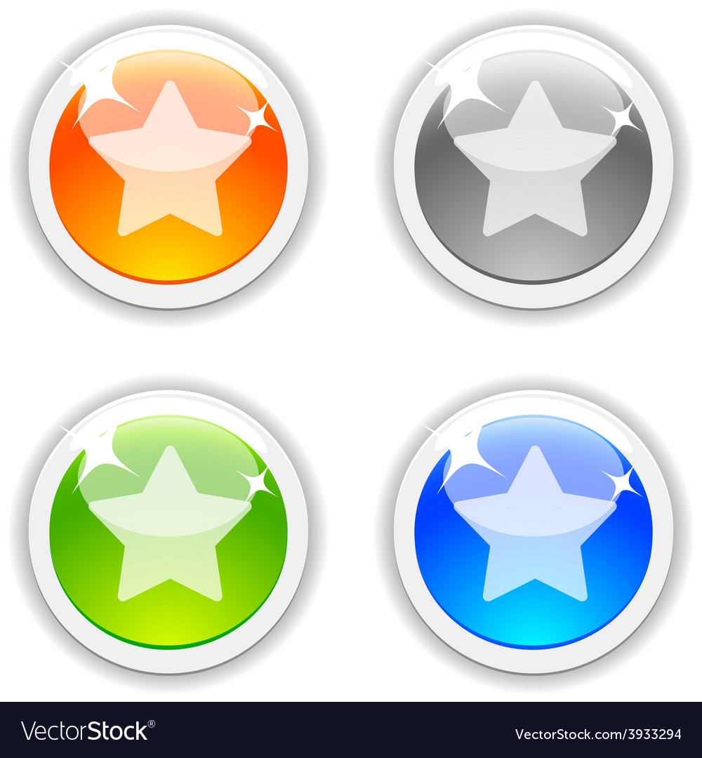 Favorite buttons vector | Price: 1 Credit (USD $1)