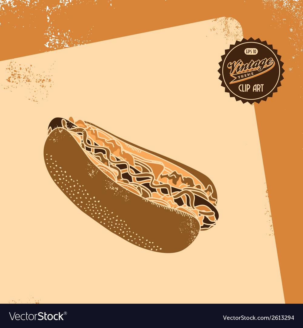 Junk food icon vector | Price: 1 Credit (USD $1)
