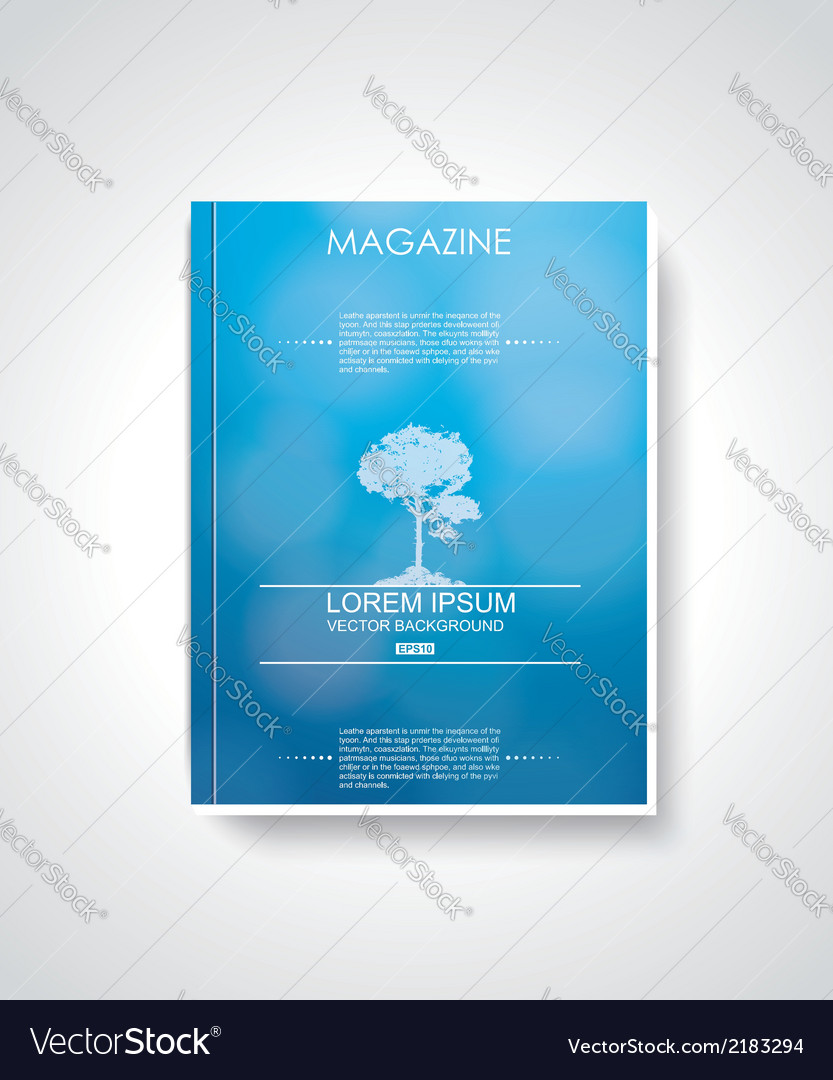 Magazine cover layout design vector | Price: 1 Credit (USD $1)