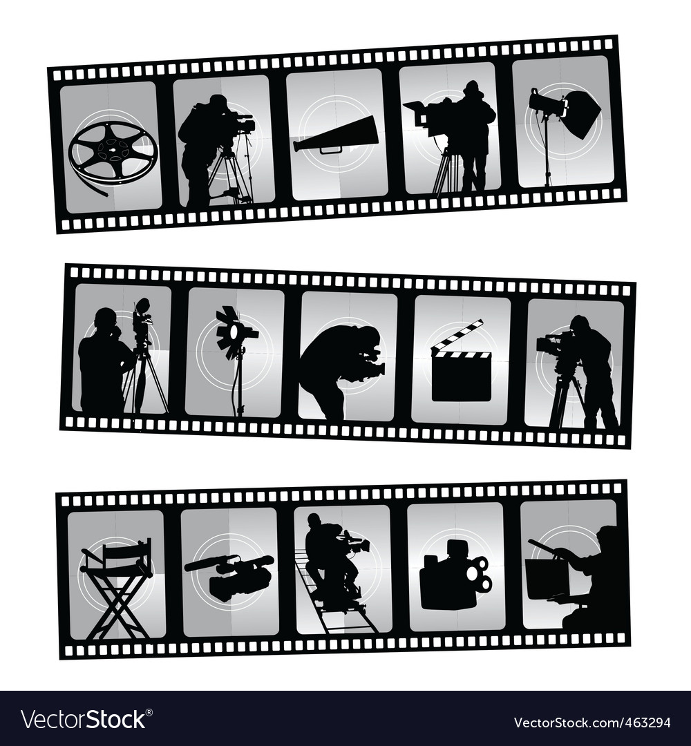 Movie filmstrip vector | Price: 1 Credit (USD $1)