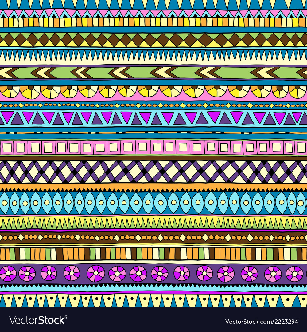 Original drawing tribal doddle ethnic pattern vector | Price: 1 Credit (USD $1)