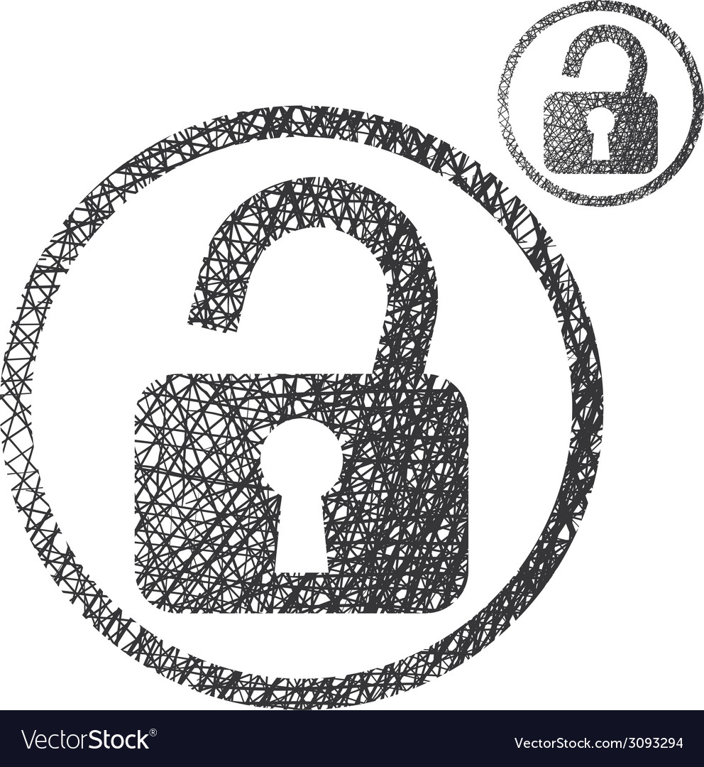 Padlock open lock simple single color icon vector | Price: 1 Credit (USD $1)