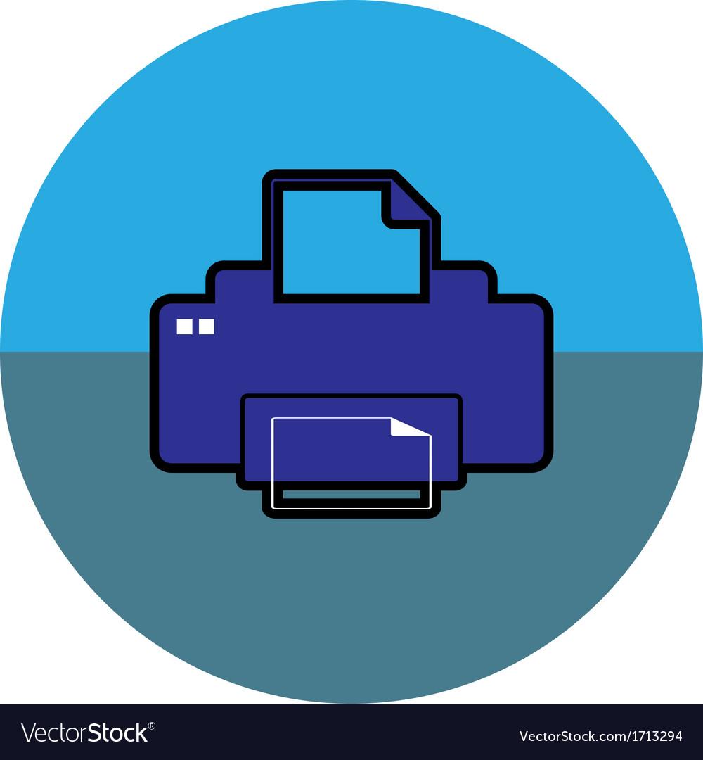 Printer icon vector | Price: 1 Credit (USD $1)