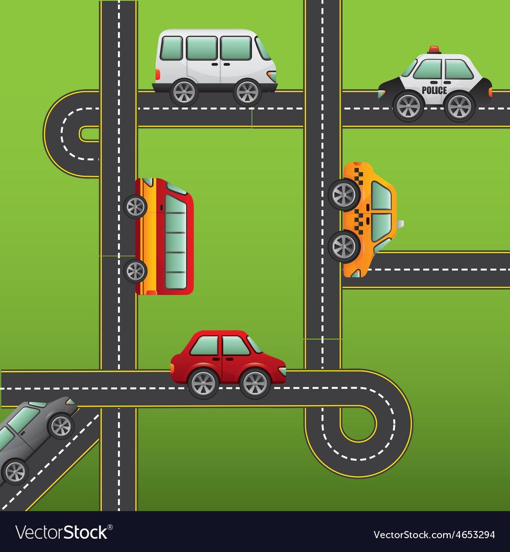 Road highway vector | Price: 1 Credit (USD $1)