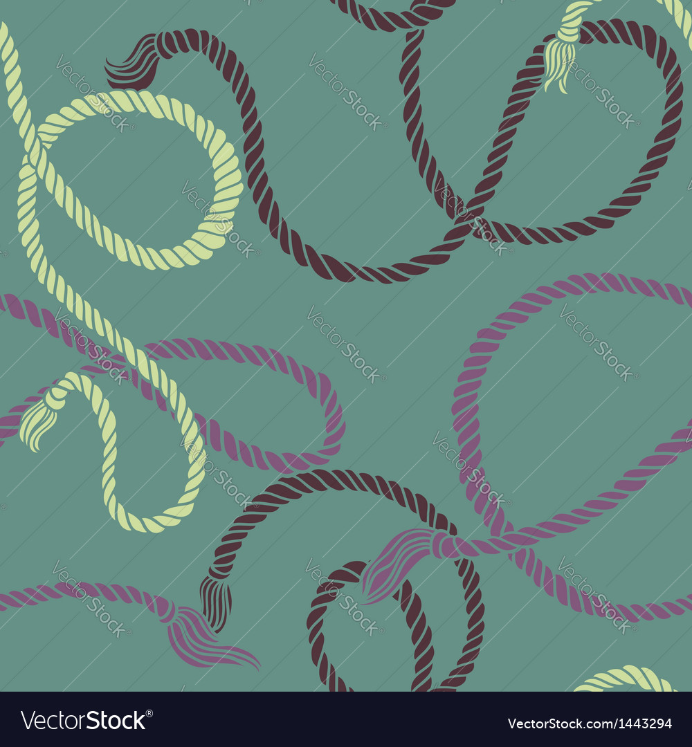 Seamless pattern with ropes vector | Price: 1 Credit (USD $1)