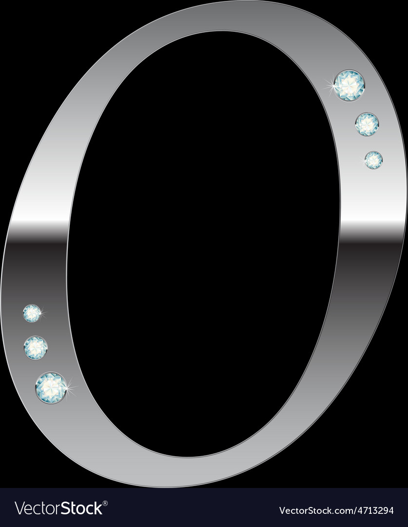 Silver metallic letter o vector | Price: 1 Credit (USD $1)