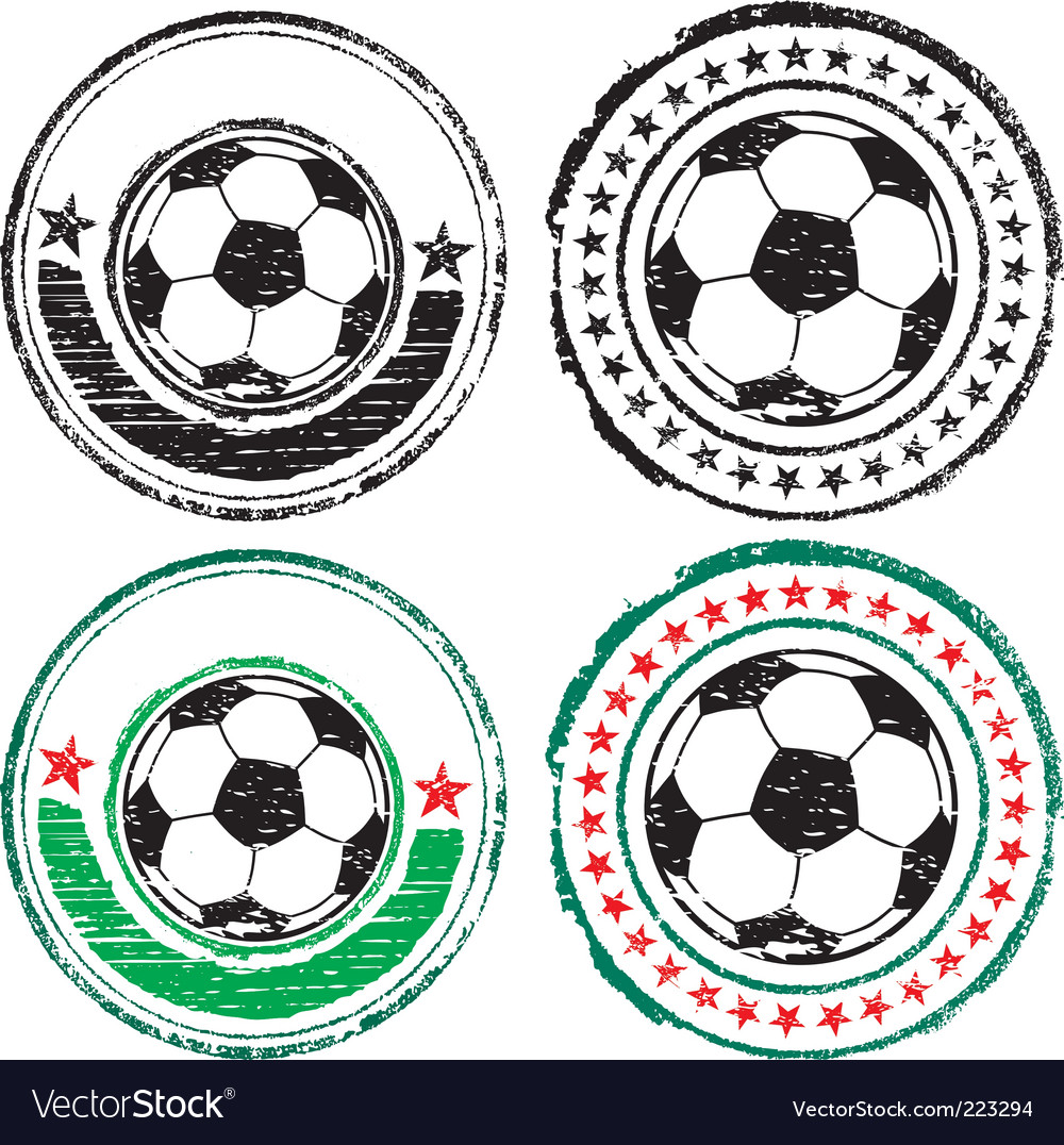 Soccer ball stamps vector | Price: 1 Credit (USD $1)