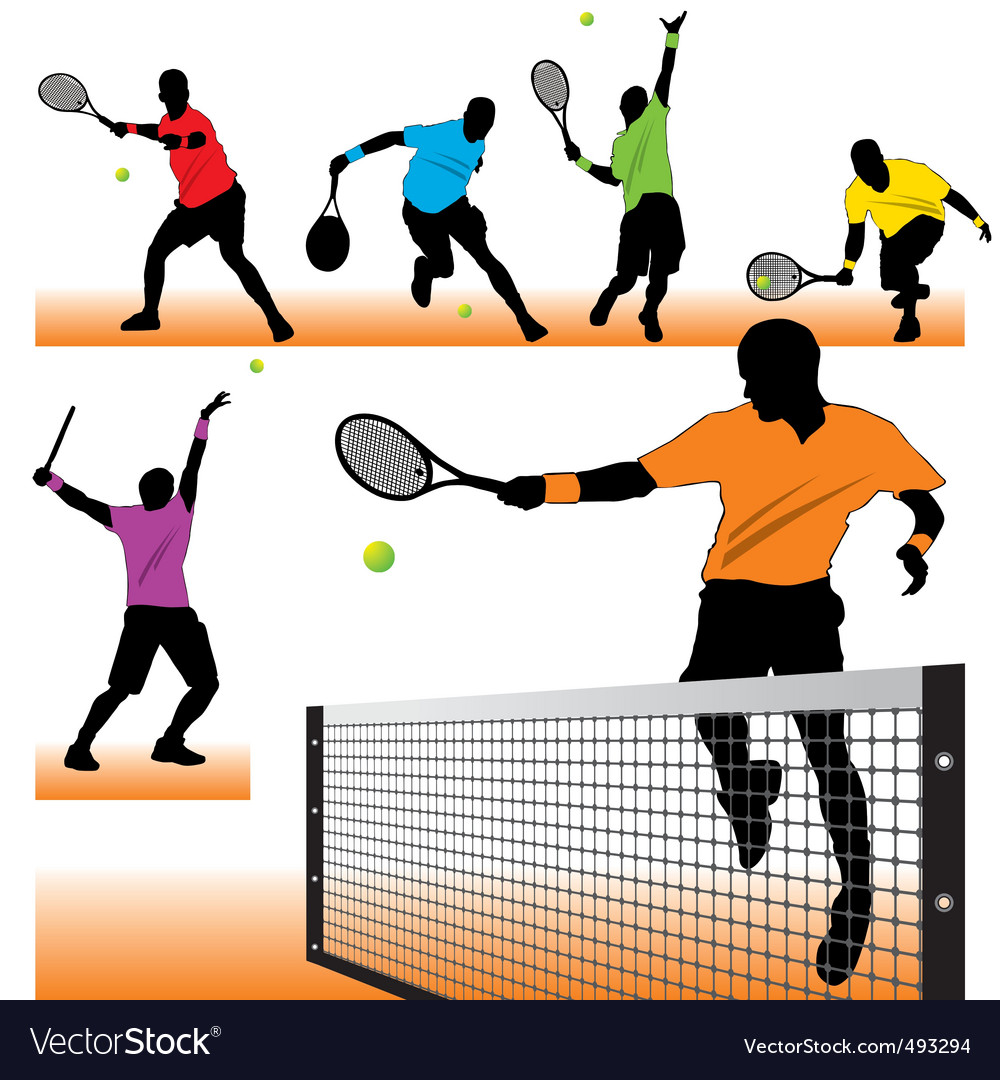 Tennis set02 vector | Price: 1 Credit (USD $1)