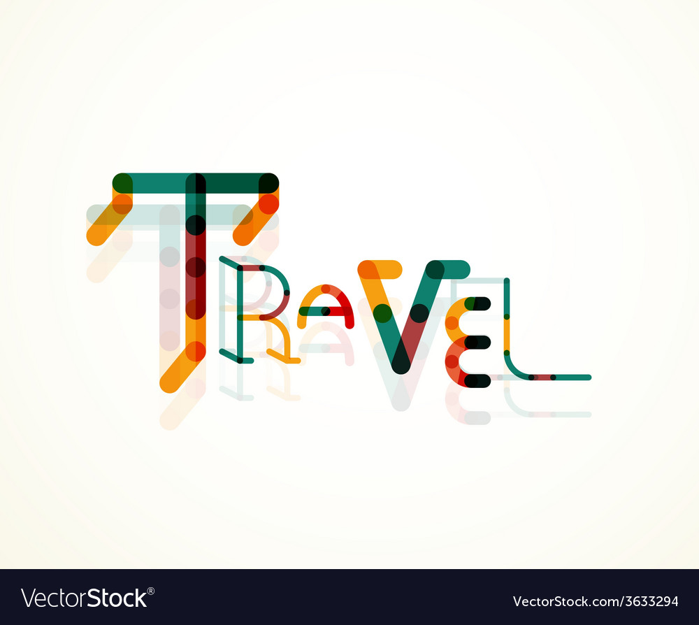 Travel word font concept vector   Price: 1 Credit (USD $1)