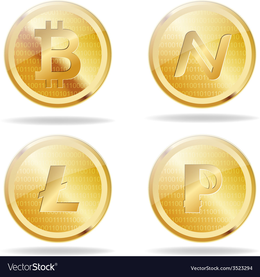 Virtual coins vector | Price: 1 Credit (USD $1)