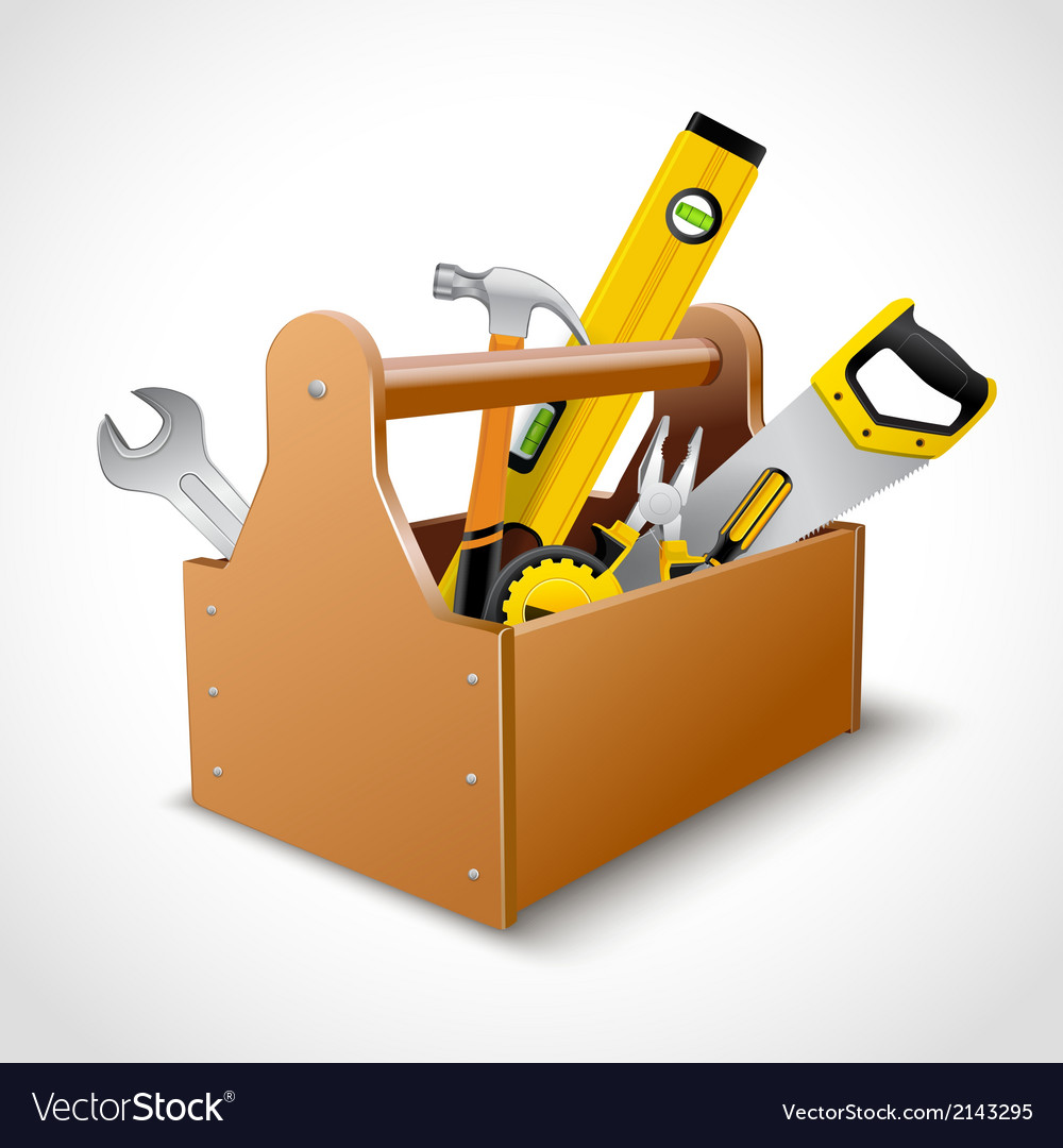 Carpenter toolbox poster vector | Price: 1 Credit (USD $1)