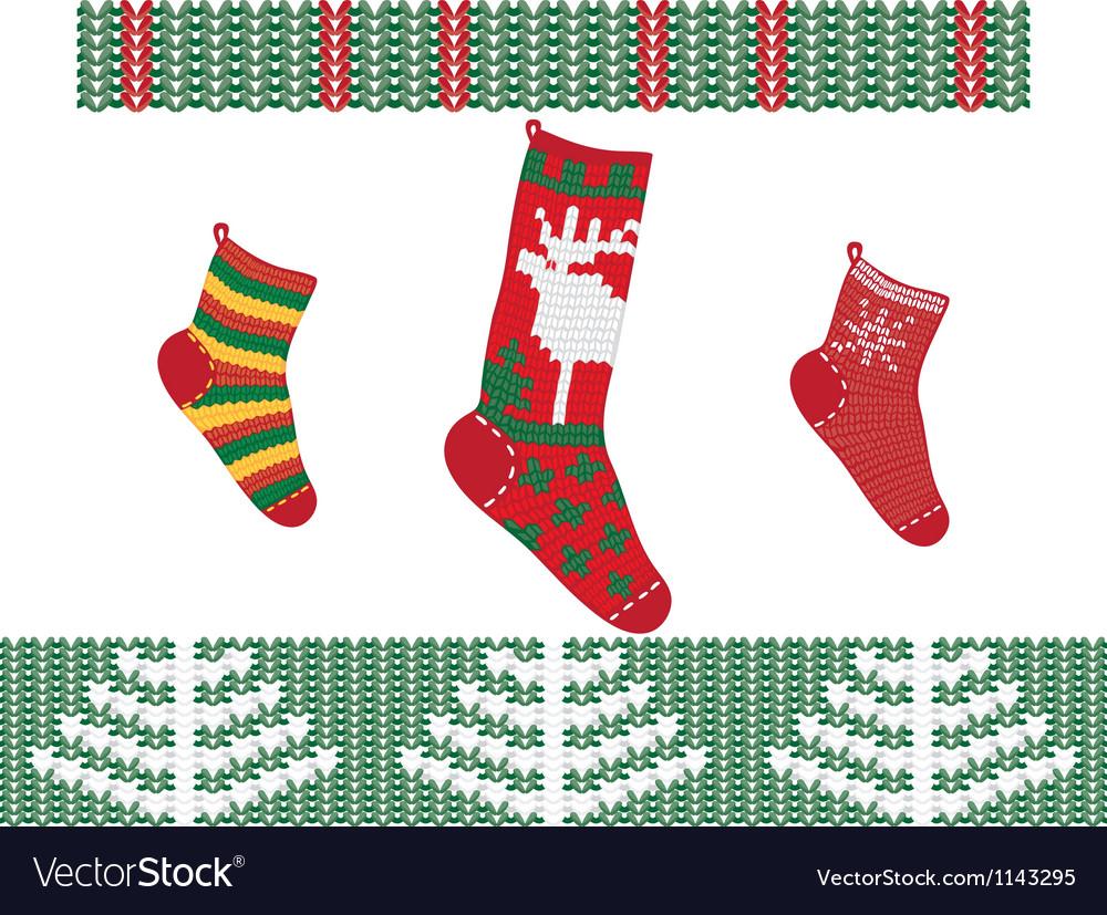 Christmas socks vector   Price: 3 Credit (USD $3)