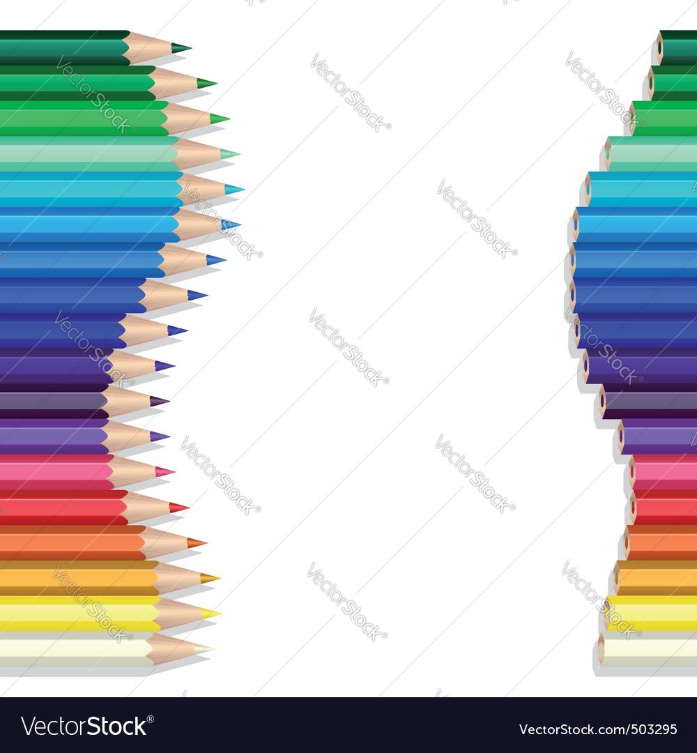 Color pencils wave vector | Price: 1 Credit (USD $1)