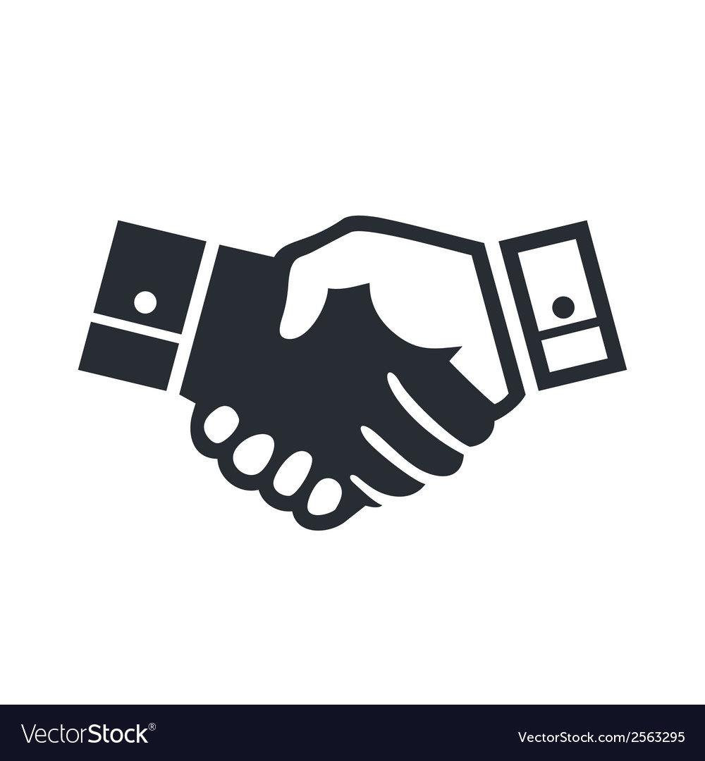 Deal handshake sign vector | Price: 1 Credit (USD $1)