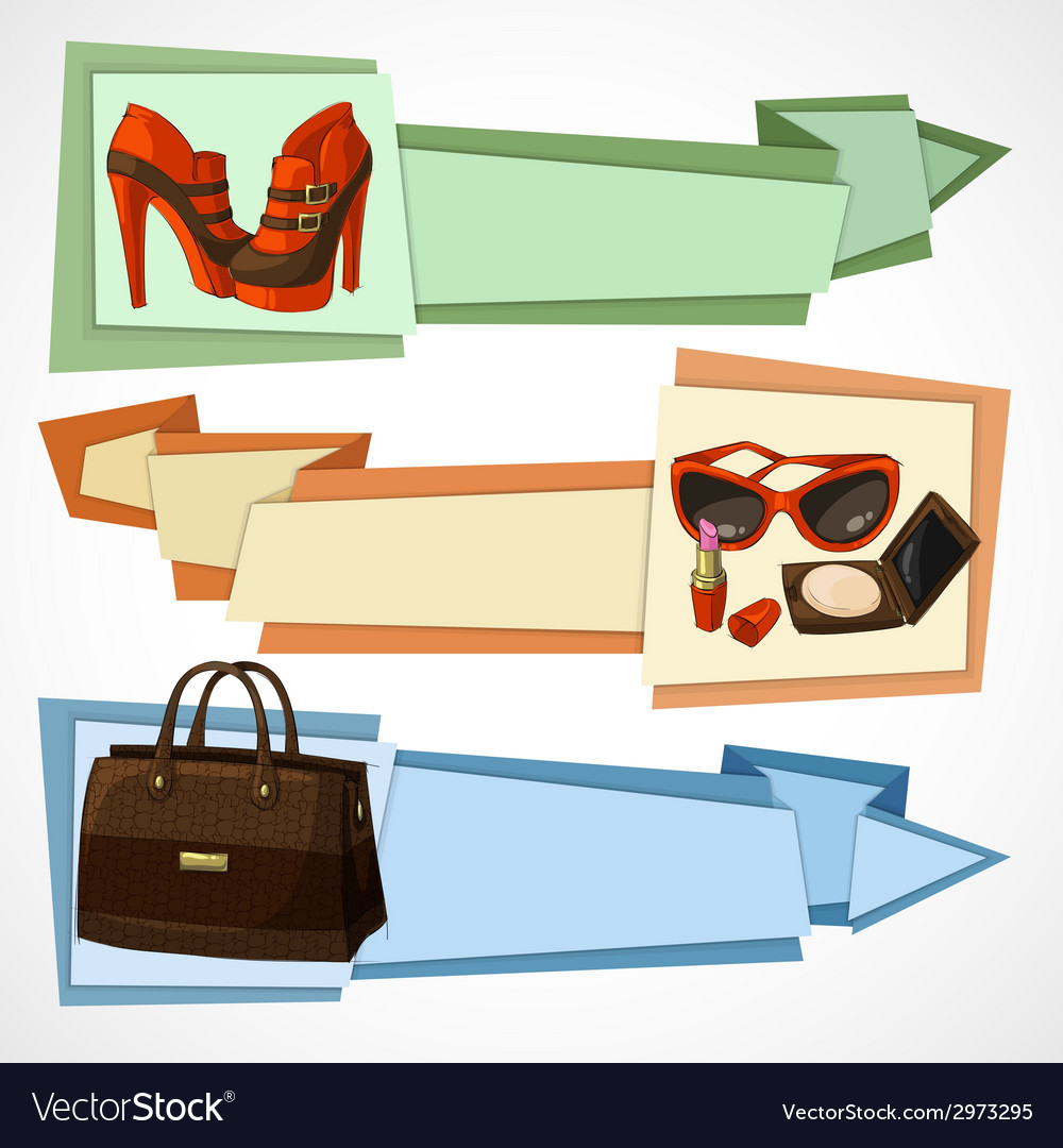 Fashion banners set vector | Price: 1 Credit (USD $1)