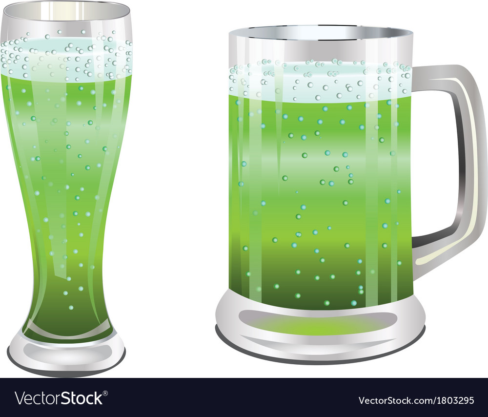 Green beer glass vector | Price: 1 Credit (USD $1)