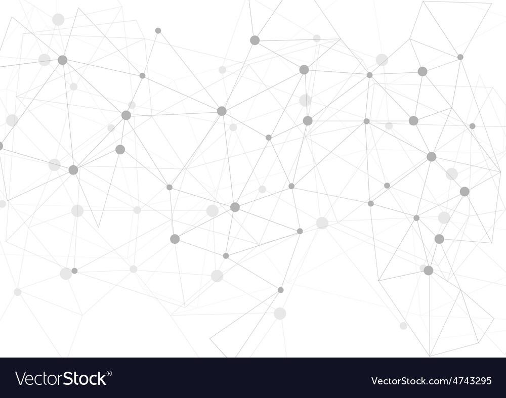 Light grey polygonal communication background vector