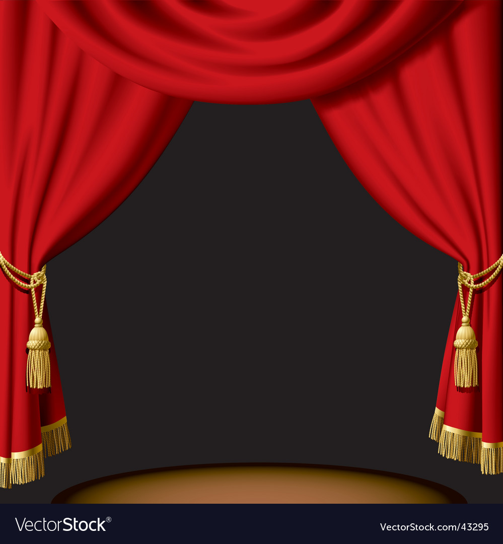 Red curtain vector | Price: 3 Credit (USD $3)